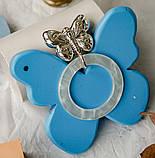 """Серебряная погремушка """"Бабочка"""" с силиконовым кольцом, фото 3"""