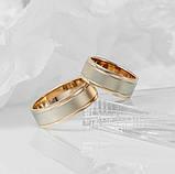 """Обручальное кольцо """"Берег океана"""" из комбинированного золота 5мм (размер 20), фото 3"""
