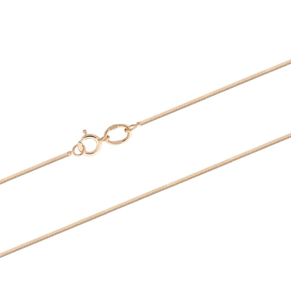 Тоненькая цепочка-снейк из красного золота (размер 45)