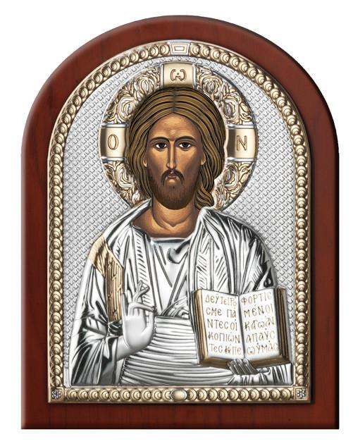 Икона серебряная  Иисус Христос (12х16см) 84000.3L.ORO