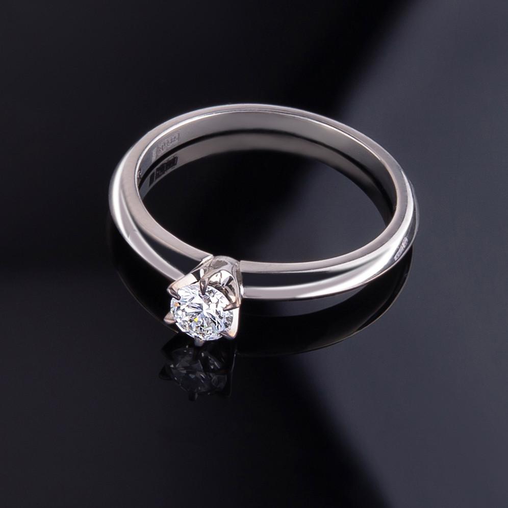 """Кольцо из белого золота """"Tiffany"""" (16,5)"""