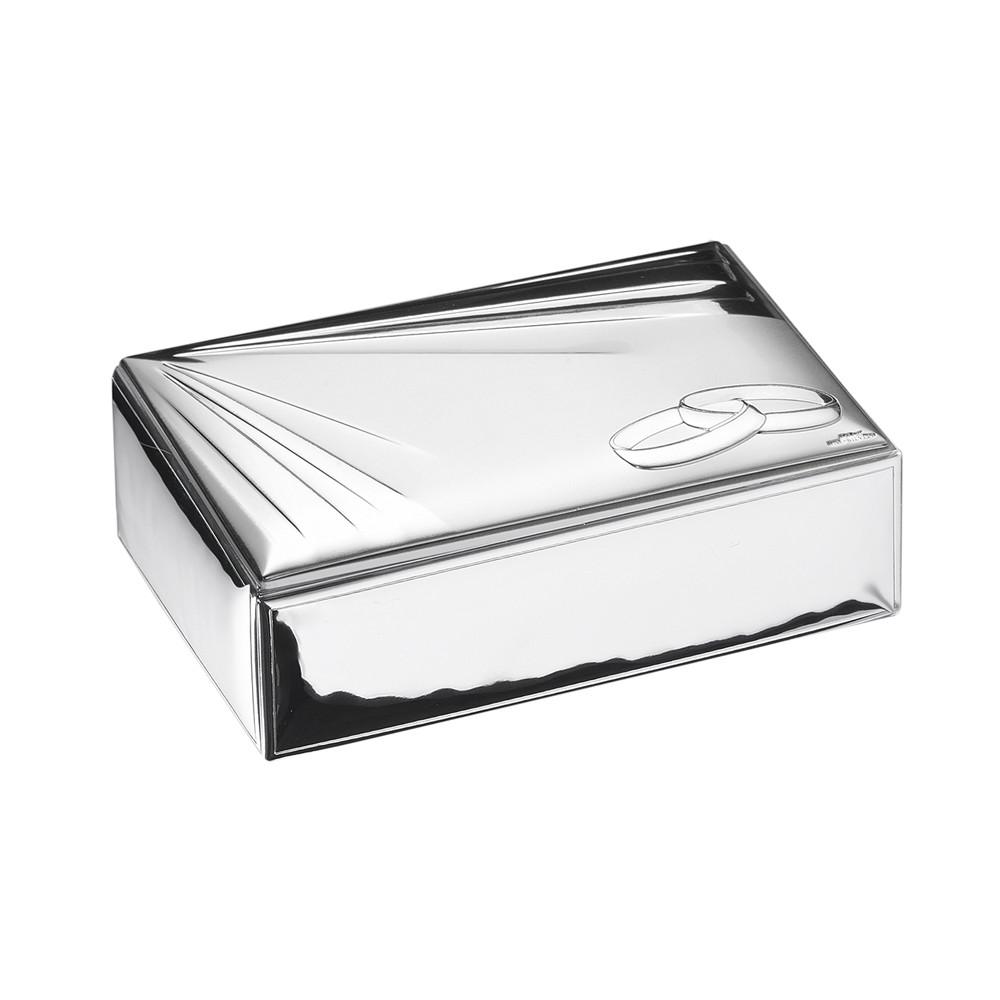 Серебряная шкатулка для обручальных колец