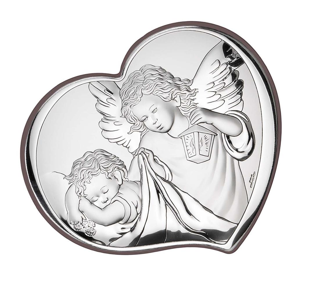 Икона серебряная Ангел-Хранитель (11х10см)