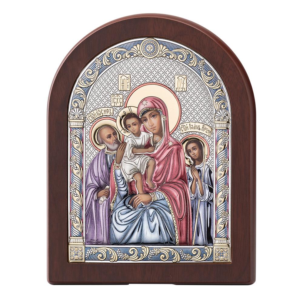 Серебряная икона Божией Матери Трех Радостей (16х20см)