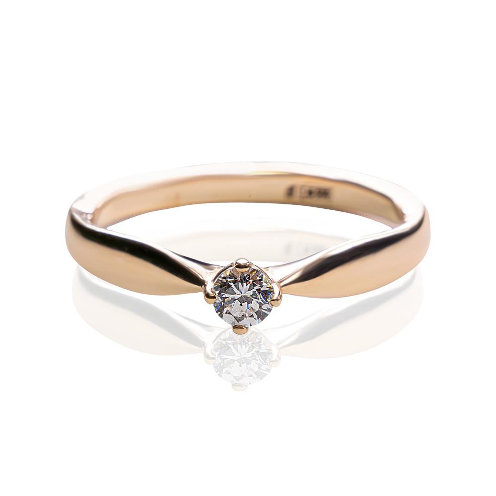Золотое кольцо с камнями циркония 163-0004 (19,5)