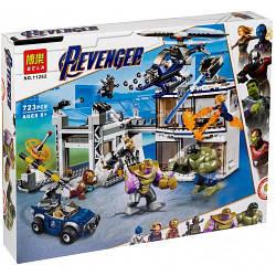 "Конструктор 11262Super Heroes (Супергерои Марвел) ""Битва на базе Мстителей"" 723 деталей."