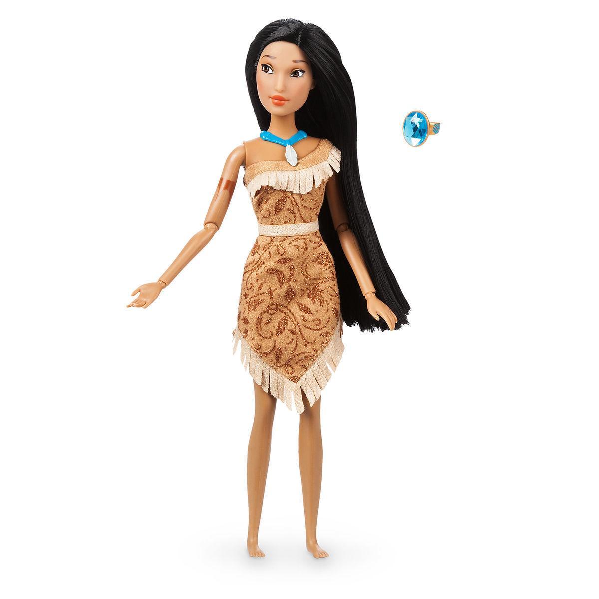 Кукла Покахонтас классическая  с кольцом Принцесса Дисней