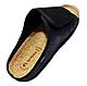 Мужские ортопедические тапочки inblu натуральная пробка и липучка FM-002 (текстиль под кожу) черные, фото 3