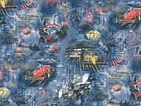 Шпалери 1,06х10,05, гаряче тиснення, Ралі 328-03 синій, фото 1