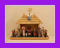 Вертеп Рождественский вертеп статуэтки шопка фигурки (15 см)