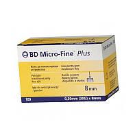 Голки інсулінові Микрофайн плюс 8мм, BD Micro-fine Plus 30G / Голки інсулінові BD Micro-fine Plus