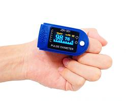 Пульсоксиметр Fingertip Pulse Oximeter LK88 Синій