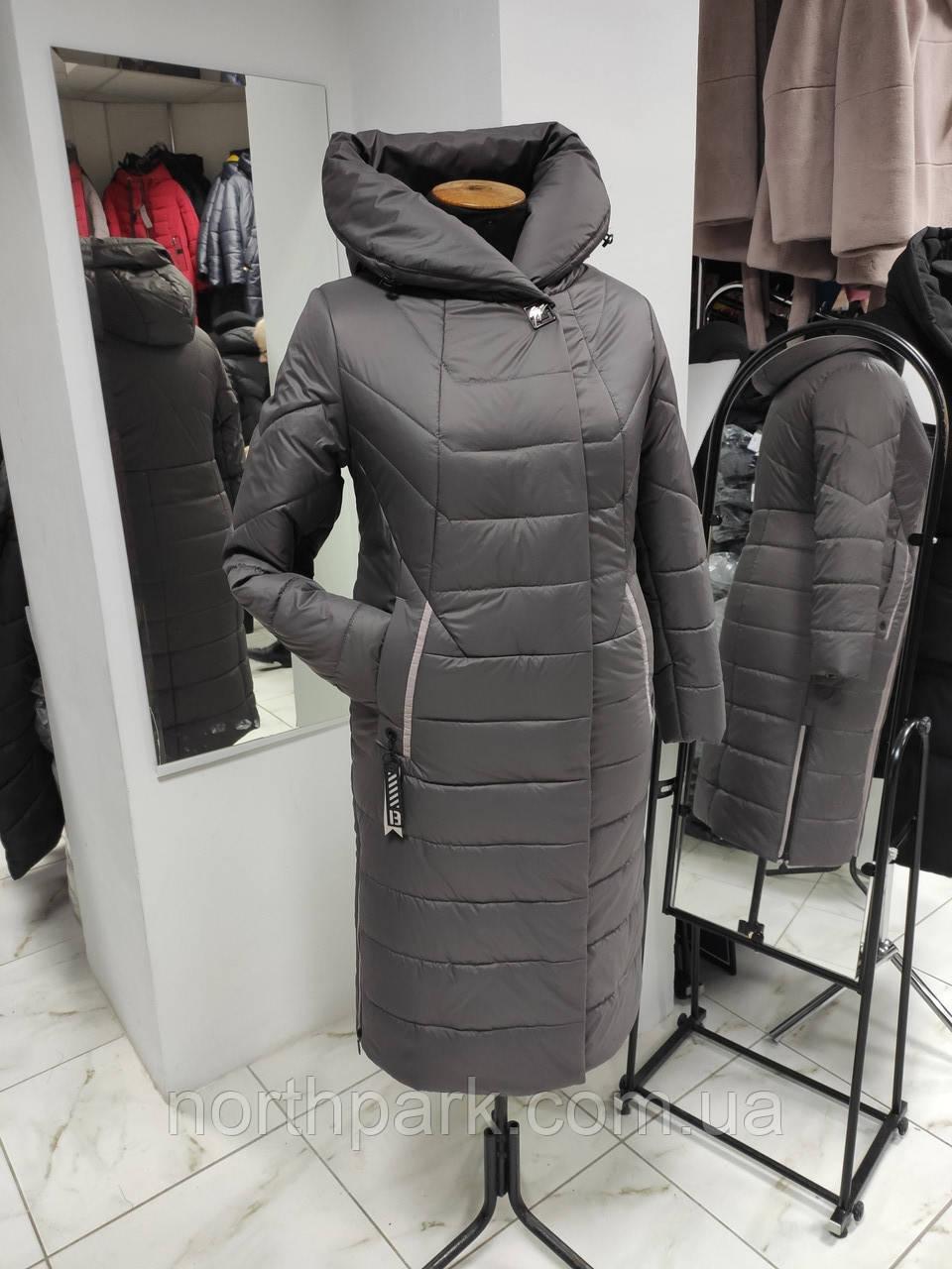 """Зимове довге пальто """"Леді"""", капучіно"""