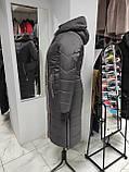 """Зимове довге пальто """"Леді"""", капучіно, фото 4"""