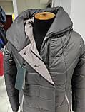 """Зимове довге пальто """"Леді"""", капучіно, фото 6"""