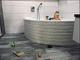 Декоративная 3D панель стеновая самоклеющаяся под кирпич БЕЛЫЙ 700х770х4мм, фото 5