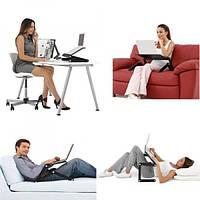 Столик для ноутбука T-8, подставка для ноутбука с кулером на кровать, диван, стол
