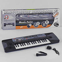 Пианино MQ 805 (18/2) на батарейке, с микрофоном, 37 клавиш, LED дисплей, в коробке