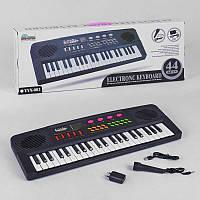 Пианино YYX 001 (18) на батарейке , работает от сети 220 V,с микрофоном, 44 клавиши, звук, мелодии, в коробке