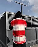 😜Рубашка - мужская теплая рубашка красная с черными рукавами, фото 2