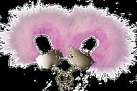Наручники металлические Adrien Lastic Handcuffs Pink с розовой пушистой отделкой