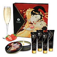 Подарочный набор Shunga GEISHAS SECRETS - Sparkling Strawberry Wine: для шикарной ночи вдвоем