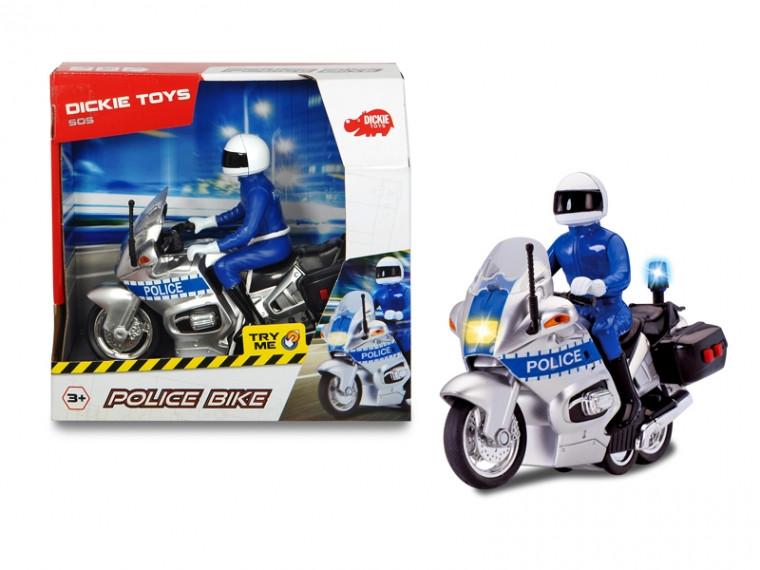 Мотоцикл Полицейский Патруль с фигуркой Dickie toys 3712004