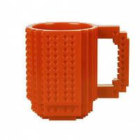 Кружка Лего конструктор (оранжевая)