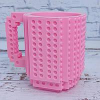 Кружка Лего конструктор (розовая)