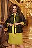 Комплект женский платье-футляр без рукавов и болеро с рукавами летучая мышь на пуговицах с 50 по 56 размер