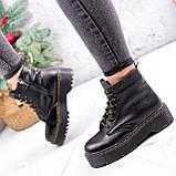 Ботинки женские Quent черные ЗИМА 2687, фото 4