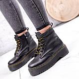 Ботинки женские Quent черные ЗИМА 2687, фото 5