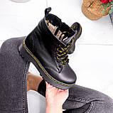 Ботинки женские Quent черные ЗИМА 2687, фото 6