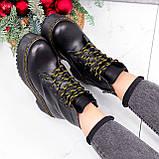 Ботинки женские Quent черные ЗИМА 2687, фото 7