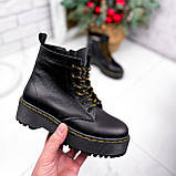 Ботинки женские Quent черные ЗИМА 2687, фото 8