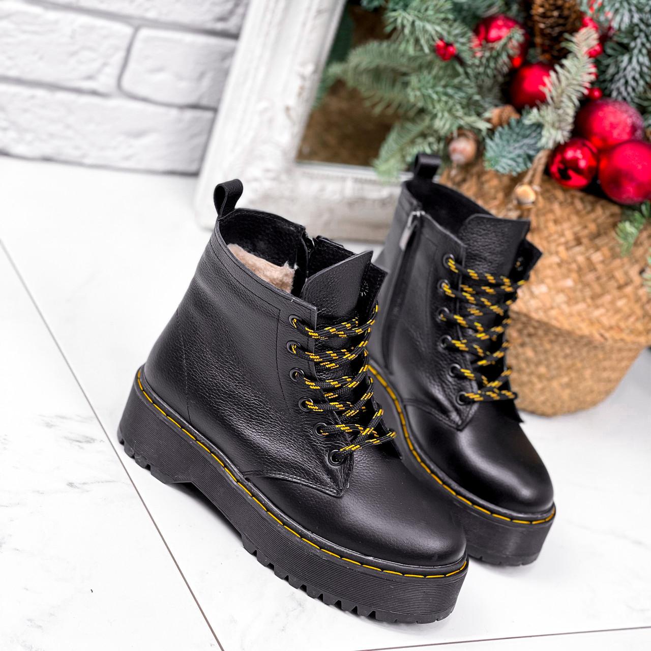 Ботинки женские Quent черные ЗИМА 2687