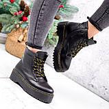 Ботинки женские Quent черные ЗИМА 2687, фото 9