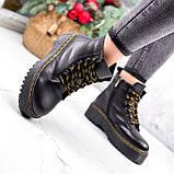 Ботинки женские Quent черные ЗИМА 2687, фото 10