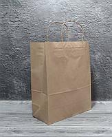 Паперовий пакет з ручками Крафт 320/150/420