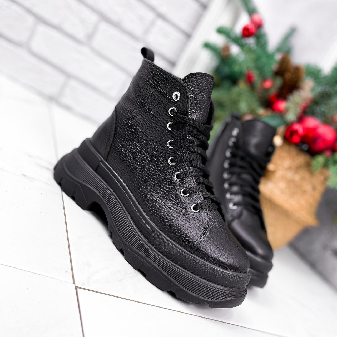 Ботинки женские Chris черные ЗИМА 2684