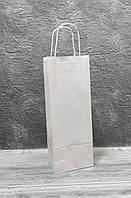 Паперовий пакет з ручками білий 150/90/400