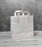 Паперовий пакет з ручками білий 260/140/260