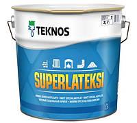 Краска латексная TEKNOS SUPER LATEKSI интерьерная белая (база 1) 2,7 л