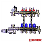Коллектор Koer для теплого пола на 3 контура с нижним подключением, фото 3
