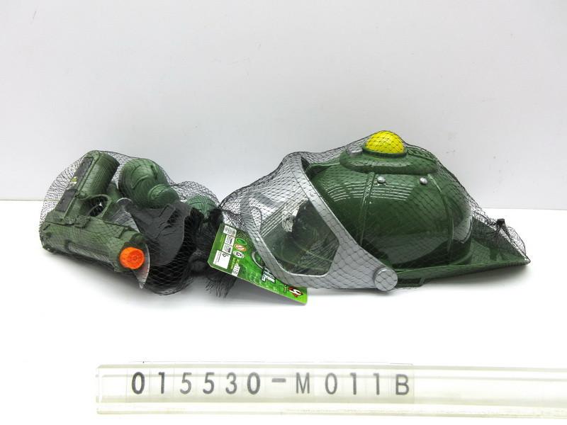 Набір військового M011B каска, пістолет, рація, бінокль, наручники, ніж, сітка, 20-28-18 см