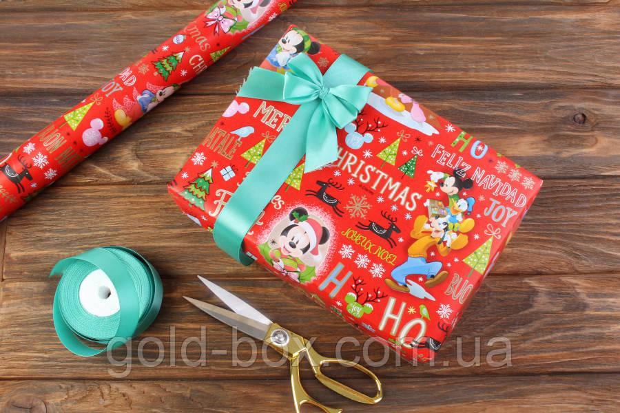 """Новогодняя бумага для упаковки подарков «Новогодняя Ёлка"""" 10шт"""