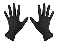 Перчатки нитриловые Medicom S неопудренные текстурированные 50 пар Черные (КОД:MAS200016)