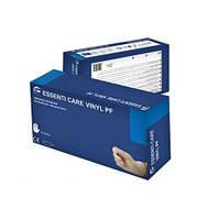 Перчатки виниловые неопудренные Essenti Care (КОД:MONDO) VINYL PF р-р L 100 штук Белые (КОД:MAS40125)