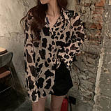 Женская модная рубашка в леопардовый принт, фото 2