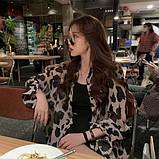 Женская модная рубашка в леопардовый принт, фото 3